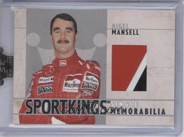 2007 Sportkings Series A - Single Memorabilia - Silver #SM-15 - Nigel Mansell