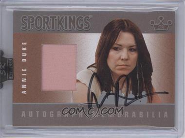 2008 Sportkings Series B - Autograph - Memorabilia - Silver #AM-ADU2 - Annie Duke