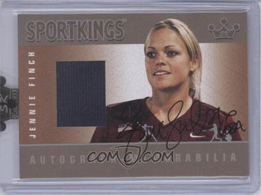 2008 Sportkings Series B - Autograph - Memorabilia - Silver #AM-JFI - Jennie Finch