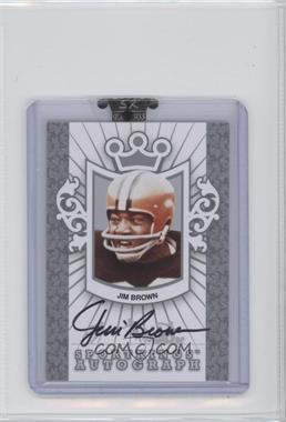 2008 Sportkings Series B - Autographs - Silver #A-JBR1 - Jim Brown /90