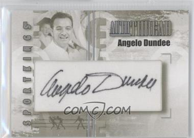 2008 Sportkings Series B - Autothread - Silver #AT-AD - Angelo Dundee /9