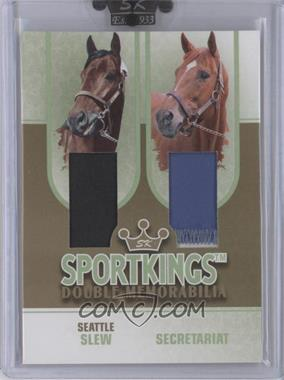 2008 Sportkings Series B - Double Memorabilia - Gold #DM-09 - Seattle Slew, Secretariat /10