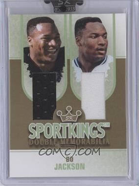 2008 Sportkings Series B - Double Memorabilia - Gold #DM-13 - Bo Jackson /10