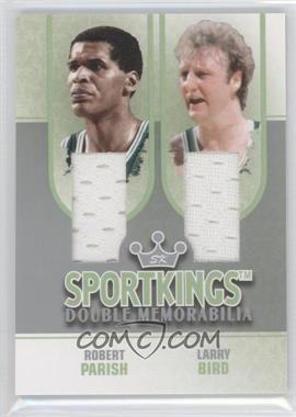 2008 Sportkings Series B - Double Memorabilia - Silver #DM-07 - Robert Parish, Larry Bird