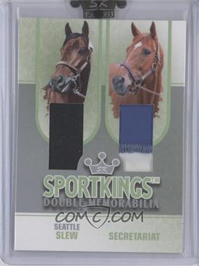 2008 Sportkings Series B - Double Memorabilia - Silver #DM-09 - Seattle Slew, Secretariat