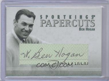 2008 Sportkings Series B - Papercuts #PC-BH - Ben Hogan /10