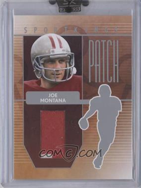 2008 Sportkings Series B - Patch - Silver #P-22 - Joe Montana
