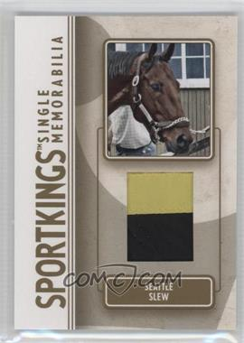 2008 Sportkings Series B - Single Memorabilia - Gold #SM-38 - Seattle Slew /10
