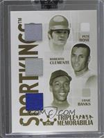 Pete Rose, Roberto Clemente, Ernie Banks /10 [ENCASED]