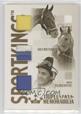 2008 Sportkings Series B - Triple Memorabilia - Gold #TM-05 - Seattle Slew, Secretariat, Ron Turcotte /10