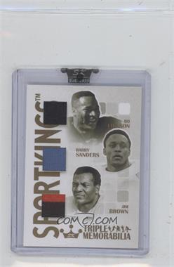 2008 Sportkings Series B - Triple Memorabilia - Gold #TM-13 - Bo Jackson, Barry Sanders, Jim Brown /10