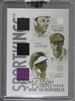 Ben Hogan, Payne Stewart, Nancy Lopez [ENCASED]