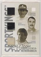 Ayrton Senna, Nigel Mansell, Mario Andretti