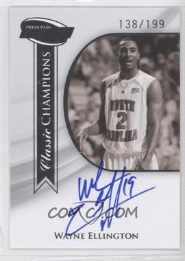 2009 Press Pass Fusion - Classic Champions Autographs - Silver #CCH-WE - Wayne Ellington /199