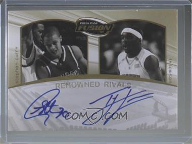 2009 Press Pass Fusion - Renowned Rivals Autographs - Gold #RR-SCTL - Stephen Curry, Ty Lawson /50