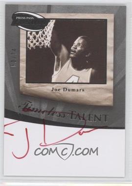 2009 Press Pass Fusion - Timeless Talent Autographs - Silver Red Ink #TT-JD - Joe Dumars /74