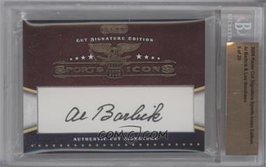 2009 Razor Cut Signature Sports Icons Edition - Authentic Cut Signature #ABLB - Al Barlick, Lou Boudreau /25 [BGS AUTHENTIC]