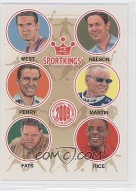 2009 Sportkings Series C - [???] #VIP-04 - Jerry West, Byron Nelson, Fred Perry, Mark Martin, Minnesota Fats, Jerry Rice