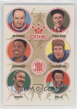 2009 Sportkings Series C - [???] #VIP-07 - Howie Morenz, Red Pollard, Rafer Johnson, Bronko Nagurski, Stan Smith, Pele