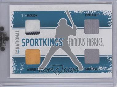 2009 Sportkings Series C - 30th National Sportkings Famous Fabrics Redemption - Silver #SK-41 - Reggie Jackson, Cal Ripken Jr., Dave Winfield, Ken Griffey Jr. /9