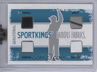 2009 Sportkings Series C - 30th National Sportkings Famous Fabrics Redemption - Silver #SK-43 - Nigel Mansell, Kyle Busch, Jimmie Johnson, Carl Edwards /9