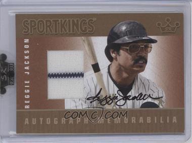 2009 Sportkings Series C - Autograph - Memorabilia - Gold [Autographed] #AM-RJA1 - Reggie Jackson