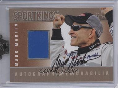 2009 Sportkings Series C - Autograph - Memorabilia - Silver [Autographed] #AM-MMA2 - Mark Martin
