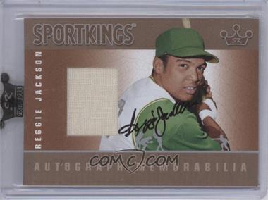 2009 Sportkings Series C - Autograph - Memorabilia - Silver [Autographed] #AM-RJA2 - Reggie Jackson