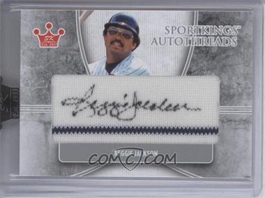 2009 Sportkings Series C - Autothreads - Silver #AT-RJ - Reggie Jackson