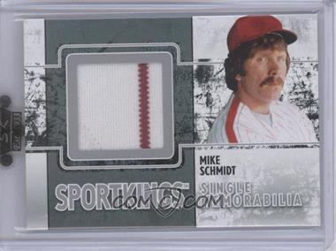 2009 Sportkings Series C - Single Memorabilia - Silver #SM-17 - Mike Schmidt
