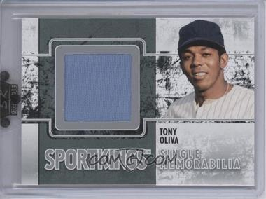 2009 Sportkings Series C - Single Memorabilia - Silver #SM-21 - Tony Oliva