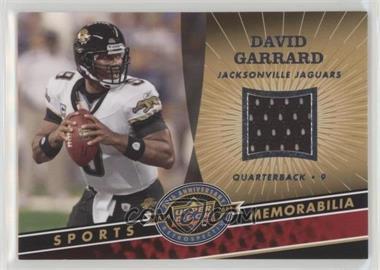 2009 Upper Deck 20th Anniversary Retrospective - Memorabilia #NFL-DG - David Garrard