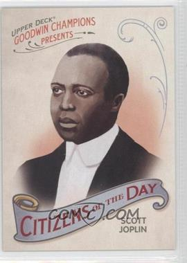 2009 Upper Deck Goodwin Champions - Citizens of the Day #CD-9 - Scott Joplin
