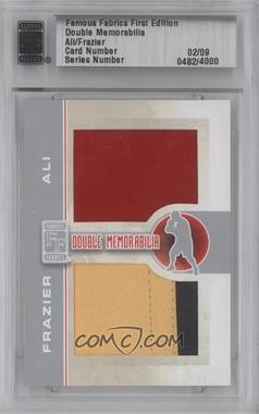 2010 Famous Fabrics First Edition - Double Memorabilia - Silver #N/A - Muhammad Ali, Joe Frazier /9