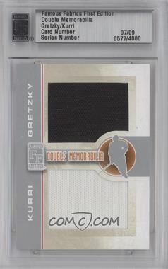 2010 Famous Fabrics First Edition - Double Memorabilia - Silver #N/A - Wayne Gretzky, Jari Kurri /9