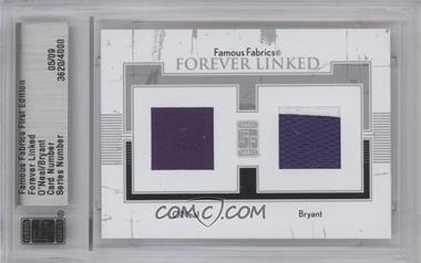 2010 Famous Fabrics First Edition - Forever Linked - Silver #5 - Shaquille O'Neal, Kobe Bryant /9