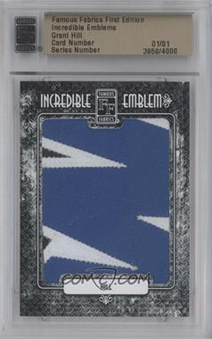 2010 Famous Fabrics First Edition - Incredible Emblems #3959 - Grant Hill /1