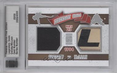 2010 Famous Fabrics First Edition - Legendary Goals - Silver #N/A - Grant McNeill /9