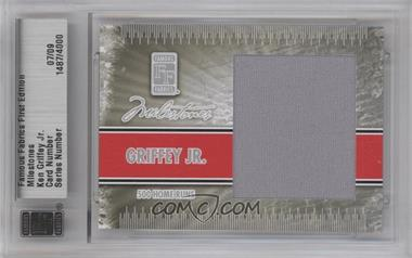 2010 Famous Fabrics First Edition - Milestones - Silver #07 - Ken Griffey Jr. /9