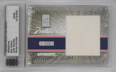 2010 Famous Fabrics First Edition - Milestones - Silver #1475 - Bob Gibson /9
