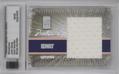 2010 Famous Fabrics First Edition - Milestones - Silver #1629 - John Elway /9