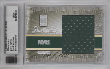 2010 Famous Fabrics First Edition - Milestones - Silver #1636 - Brett Favre /9
