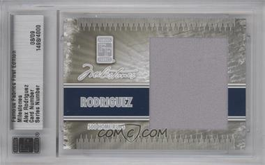 2010 Famous Fabrics First Edition - Milestones - Silver #N/A - Alex Rodriguez /9