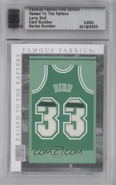 2010 Famous Fabrics First Edition - Raised to the Rafters - Silver #03 - Larry Bird /9