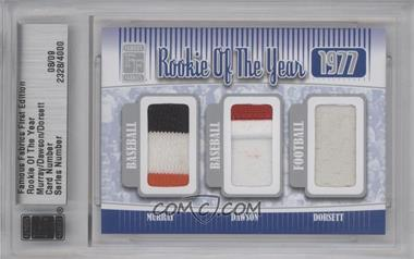 2010 Famous Fabrics First Edition - Rookie of the Year - Silver #2328 - Eddie Murray, Andre Dawson, Tony Dorsett /9