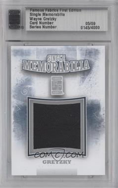 2010 Famous Fabrics First Edition - Single Memorabilia - Silver #0145 - Wayne Gretzky /9