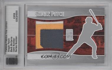 2010 Famous Fabrics First Edition - Single Patch - Silver #N/A - Mark McGwire /9