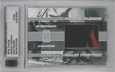 2010 Famous Fabrics First Edition - Solid Footing - Silver #3187 - Vladimir Guerrero /9
