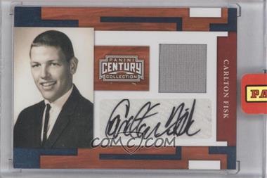 2010 Panini Century Collection - [Base] - Materials Jerseys Signatures [Autographed] [Memorabilia] #27 - Carlton Fisk /25