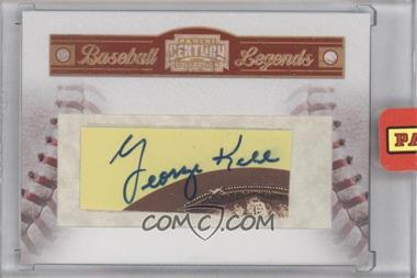 2010 Panini Century Collection - Baseball Legends Souvenir Cuts Cut Signatures #21 - George Kell /100